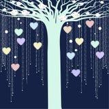 El árbol con los pájaros Imagen de archivo libre de regalías