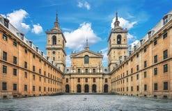 EL real Escorial do monastério perto do Madri, Espanha Fotografia de Stock