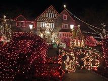 El receptor de papel adornó el hogar de la Navidad Fotografía de archivo libre de regalías