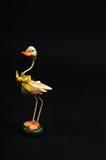 El receptor de papel adornó el pato en negro Imágenes de archivo libres de regalías
