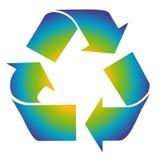El reciclaje es símbolo de la diversión. Colorido recicle. Imagen de archivo libre de regalías