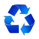El reciclaje firma adentro el azul libre illustration