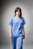 El recorrer cómodo de la enfermera Fotografía de archivo