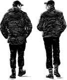 El recorrer de dos hombres Fotografía de archivo
