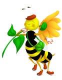 El recorrer de la abeja Imágenes de archivo libres de regalías