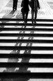 El recorrer de la gente Fotografía de archivo