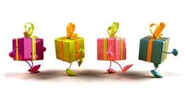 El recorrer de los regalos Fotografía de archivo libre de regalías