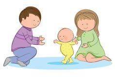 El recorrer del bebé ilustración del vector