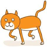 El recorrer del gato Foto de archivo