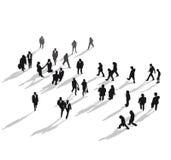 El recorrer del grupo de personas stock de ilustración