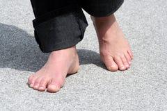 El recorrer del pie Foto de archivo libre de regalías