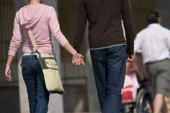 El recorrer en amor Imagen de archivo libre de regalías