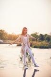 El recorrer en el agua Foto de archivo