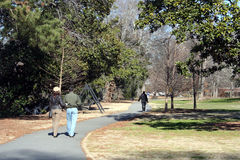 El recorrer en el parque Foto de archivo