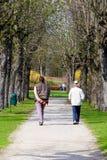 El recorrer en el parque Fotos de archivo