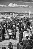 El recorrer en el puerto de Laoghaire del Dun - Co Dublín Foto de archivo libre de regalías