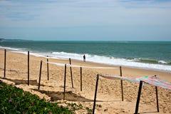 El recorrer en la playa Foto de archivo