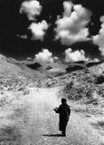 El recorrer encima de la colina Imagenes de archivo