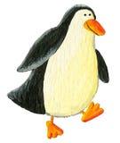 El recorrer lindo del pingüino