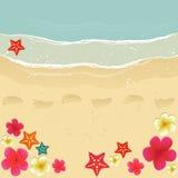 El recorrer a lo largo de la playa stock de ilustración