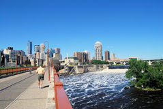 El recorrer a Minneapolis Imagenes de archivo