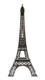 El recuerdo del llavero de la torre Eiffel París del metal aisló Fotografía de archivo