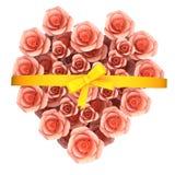 El regalo de las rosas representa romance y a tarjetas del día de San Valentín del saludo Imagenes de archivo