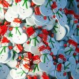 El regalo dulce 3d de la Navidad del muñeco de nieve rinde Imagen de archivo libre de regalías