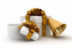 El regalo fijó en un fondo blanco. Imagenes de archivo