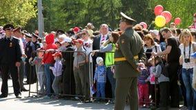 El regimiento inmortal de la acción en desfile de la victoria Fotografía de archivo libre de regalías