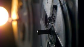 El registrador magnético del vintage funciona con las bobinas de giro almacen de video