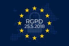 El Reglamento Ogólny De proteccià ³ n De Datos RGPD royalty ilustracja