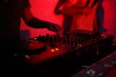 El regulador de DJ Fotos de archivo