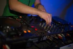 El regulador de DJ Foto de archivo