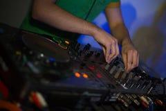 El regulador de DJ Foto de archivo libre de regalías