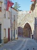 El Rei door at Guarda Walls. Old Wall door named El Rei, in Guarda, Portugal Royalty Free Stock Image