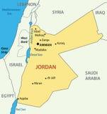 El Reino Hachemita de Jordania - mapa Imágenes de archivo libres de regalías
