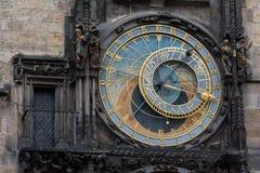el reloj astronómico de Praga Imagenes de archivo