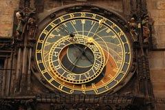 El reloj astronómico de Praga Fotografía de archivo