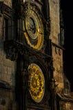 El reloj astronómico de Praga Foto de archivo
