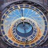 El reloj astronómico de Praga - cuadrado Imagenes de archivo