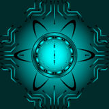 El reloj atómico Imagenes de archivo