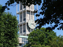 El reloj ayuntamiento Aarhus Foto de archivo