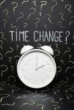 El reloj cambia la unión europea foto de archivo
