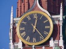 El reloj chiming de Moscú imagen de archivo