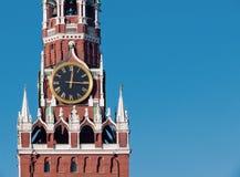El reloj chiming de Moscú foto de archivo