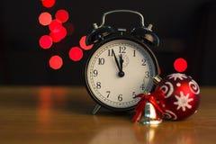 El reloj del Año Nuevo Imagen de archivo libre de regalías