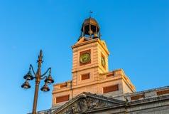 El reloj del Real Casa de Correos Foto de archivo libre de regalías
