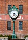 El reloj en Lititz, Pennsylvania foto de archivo libre de regalías