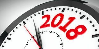 El reloj marca 2018 2 Imagen de archivo libre de regalías